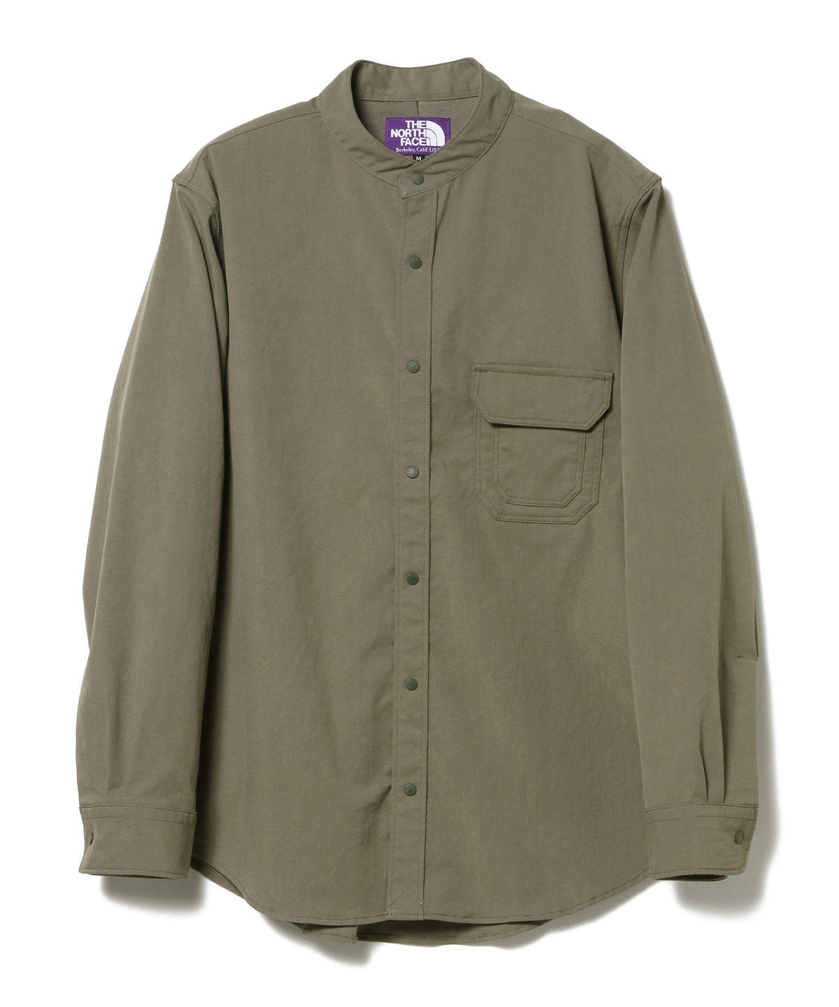 Polyester Twill Stand Collar Shirt