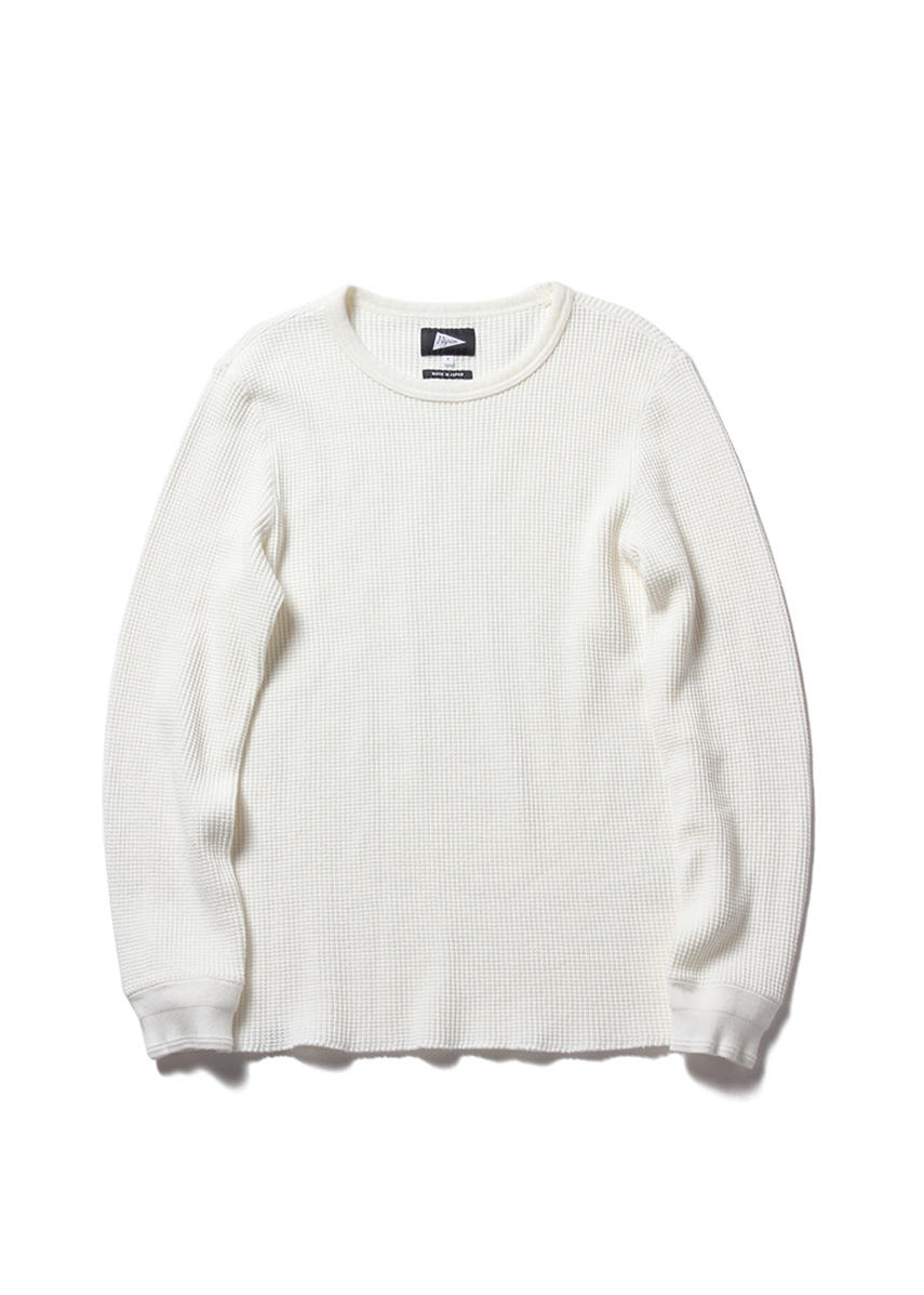 WARREN Thermal Waffle LS Tee (WHITE)