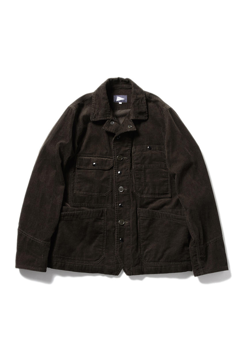 WILCOX Cord Worker's Jacket (BROWN)