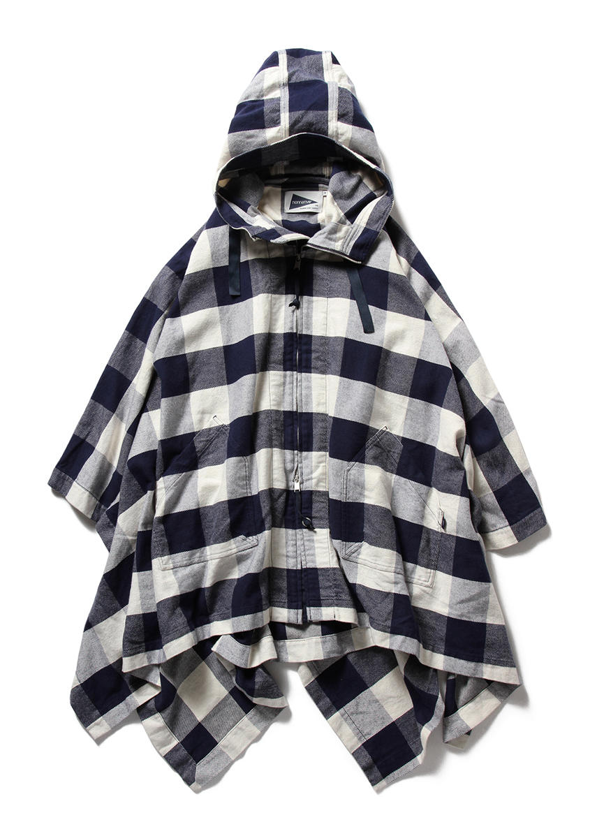 TOURIST CAPE COTTON TWILL BLOCK CHECK
