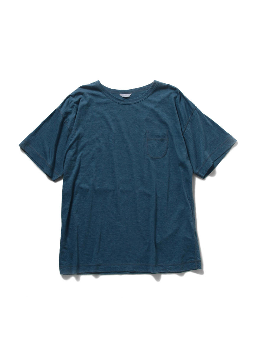Drop Sholder Solid T Shirt (BLUE)