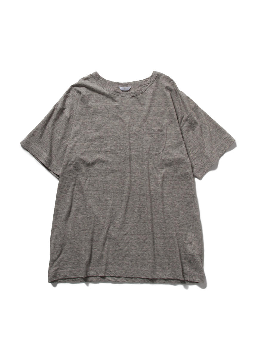 Drop Sholder Solid T Shirt (GREY)