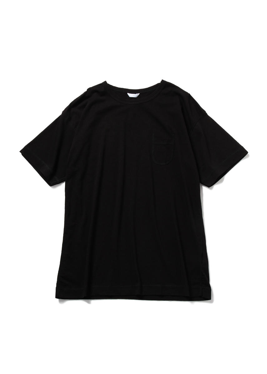 Drop Sholder Solid T Shirt (BLACK)